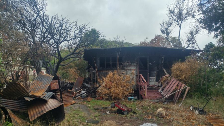 Photo of the fire-damaged custodial house by Jett Neeley 2017.