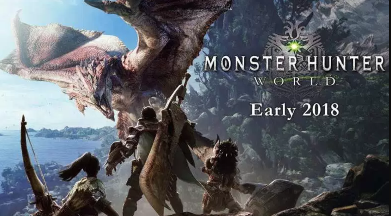 Monster Hunter World promotional poster.