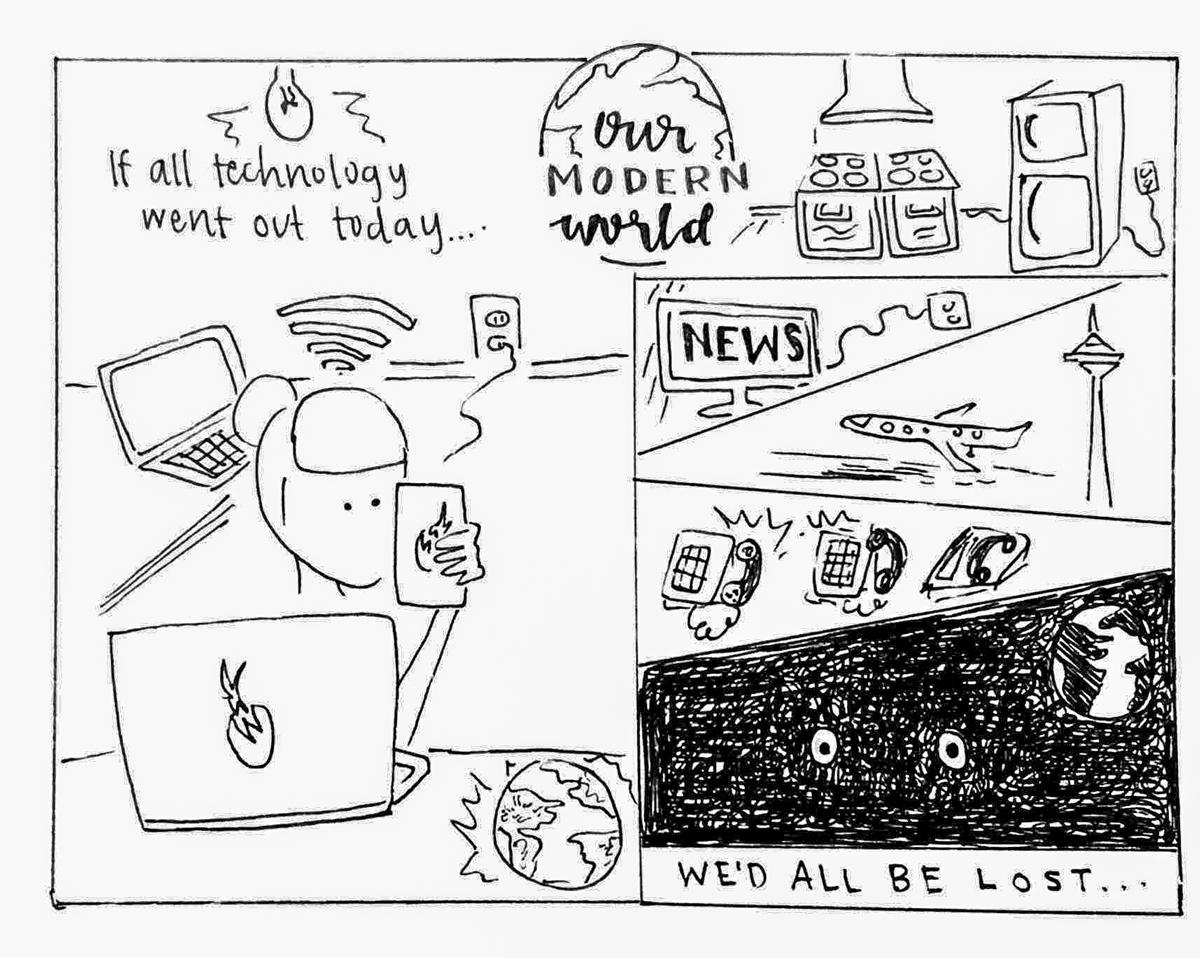 Our Modern World by Alana Nakafuji 2018.