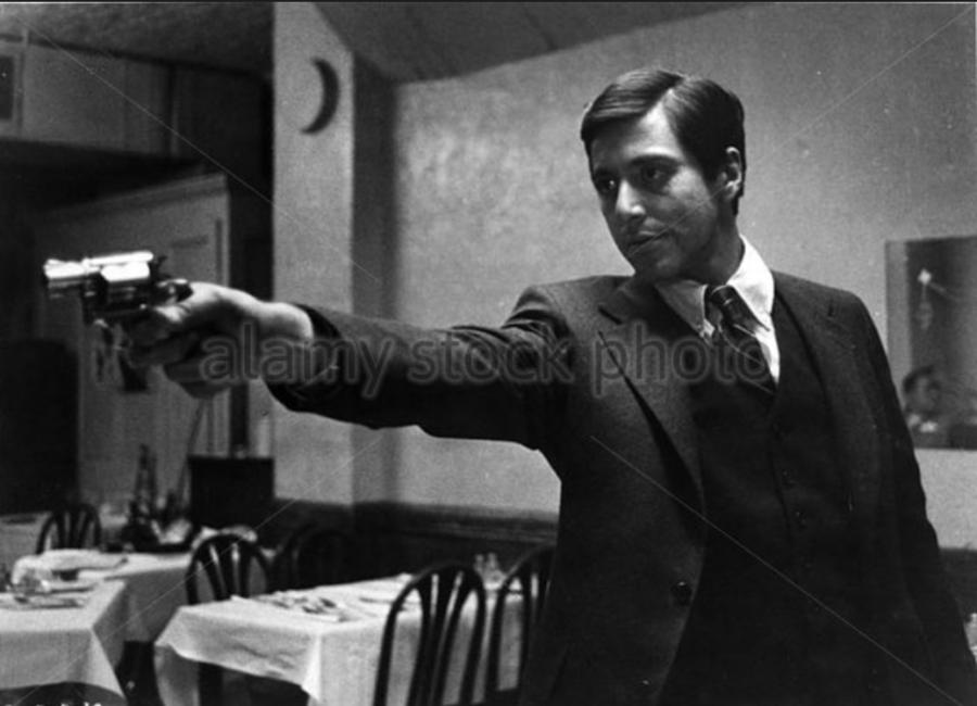 THE+GODFATHER+-1972+AL+PACINO+-+Stock+Image