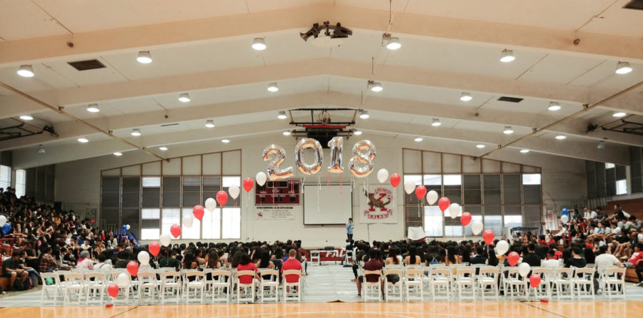 A+view+of+the+Senior+Send-Off+Assembly+for+the+Class+of+2018.