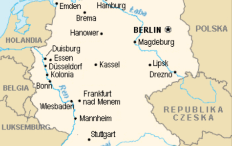Map of Germany produced by the U.S. Government. Public Domain.