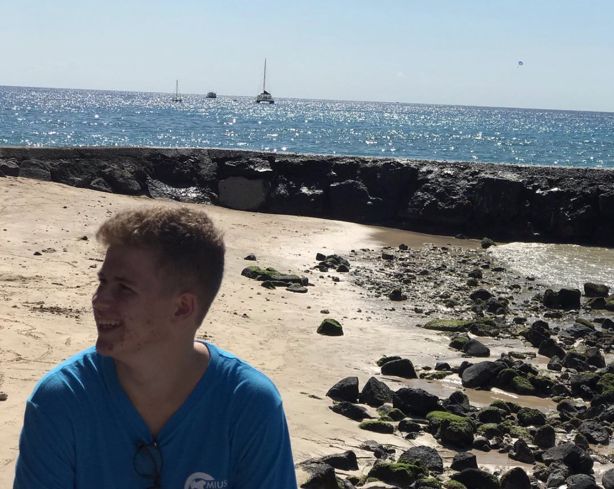Maksym Zabolotnyy is a foreign exchange student from Ukraine at Kalani High School for the 2018-2019 school year. Photo courtesy of Zabolotnyy 2018.