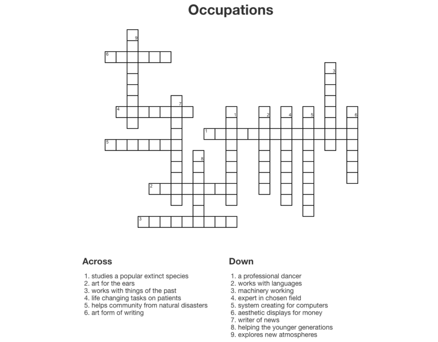 Crossword created by Kalani Leo staff.