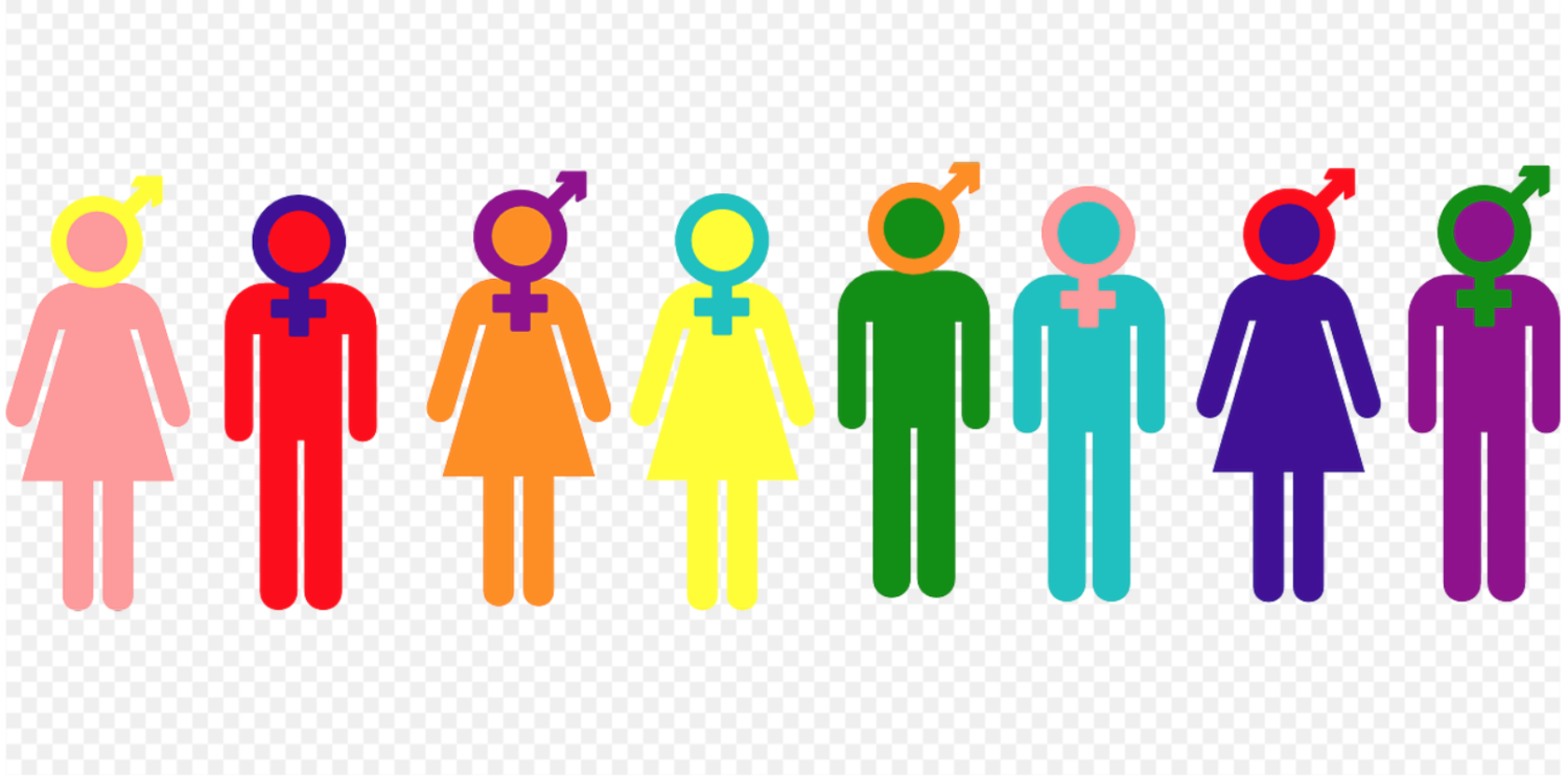 The inclusivity of the LGBTQ community is represented by this graphic. CCO Public Domain 2013.