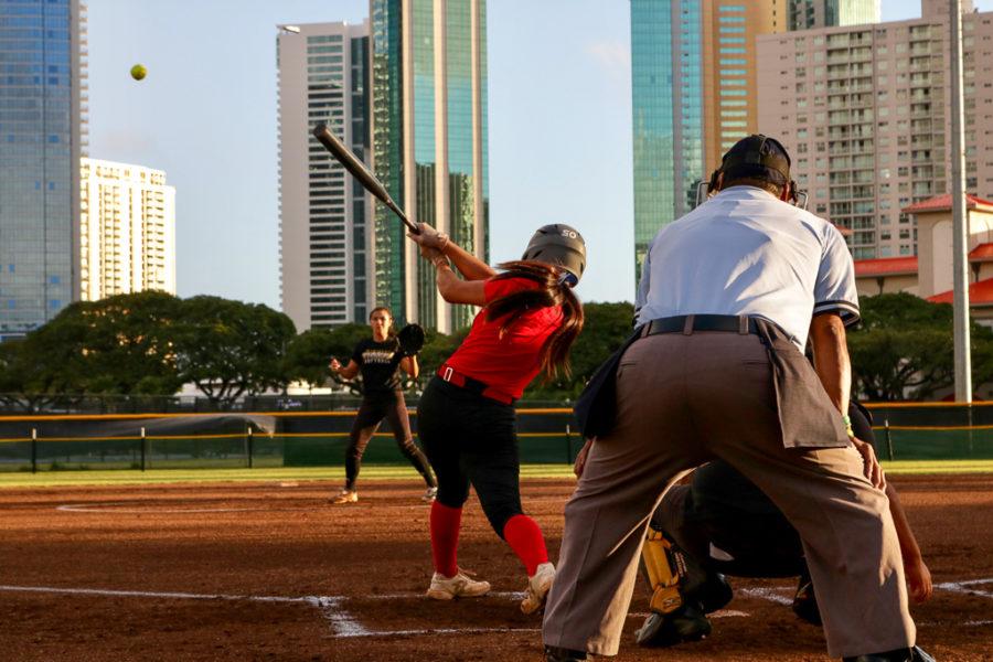 Kalani Wallops McKinley in Softball Scrimmage