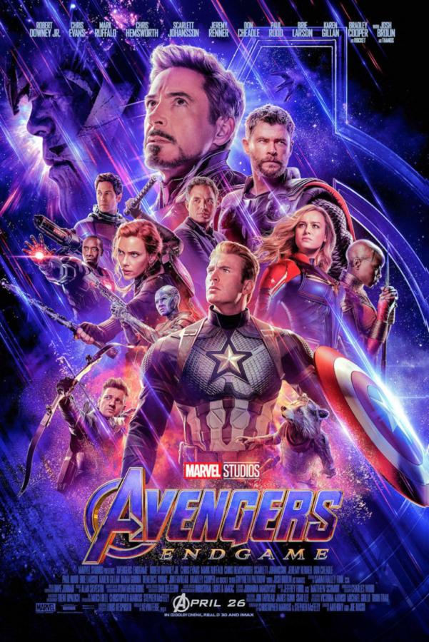 Publicity poster for Avengers: Endgame. Marvel Studios 2019.