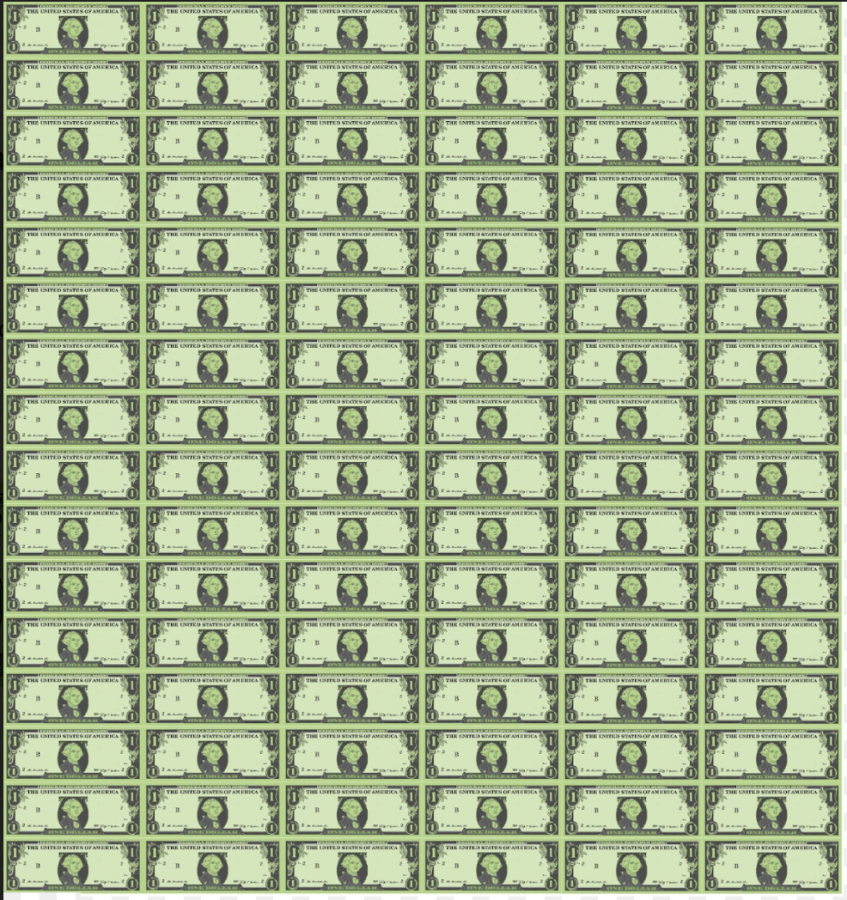9.6 million Tress are cut down every day worldwide. In this graphic illustration, every pixel that makes up the dollar represents one tree. Each dollar bill has 100,000 pixels and in total there are 96 dollar bills to represent a day's worth of global deforestation. Made using PixelArt and Canva by Mina Kohara 2020.