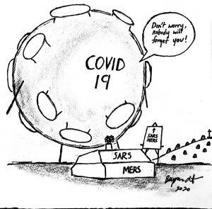 Editorial Cartoon by Virgil Lin 2020.