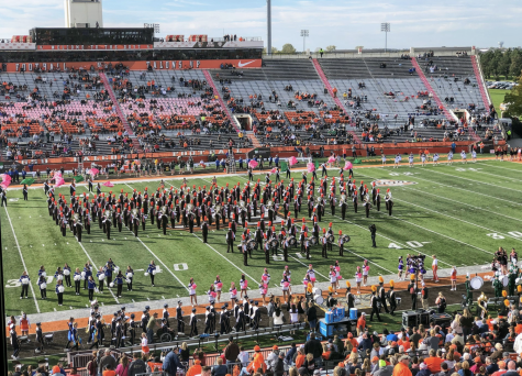 The Falcon Marching Band in October 2019. Normally photography at Football events requires a written letter of consent from the athletics department, so I got permission from Jason Knavel of the Athletics Department. Wiki Commons.