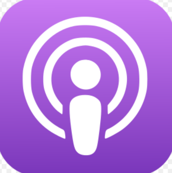 Apple Inc podcast icon (public domain). Wiki commons.