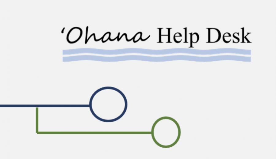 'Ohana Help Desk logo courtesy of the Hawaii Dept. of Education 2020.