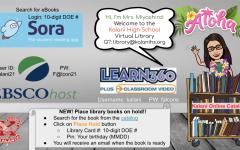 Kalani High School's virtual library home page. Access this site under the Academics tab on the Kalani website. Ka Leo Staff photo.